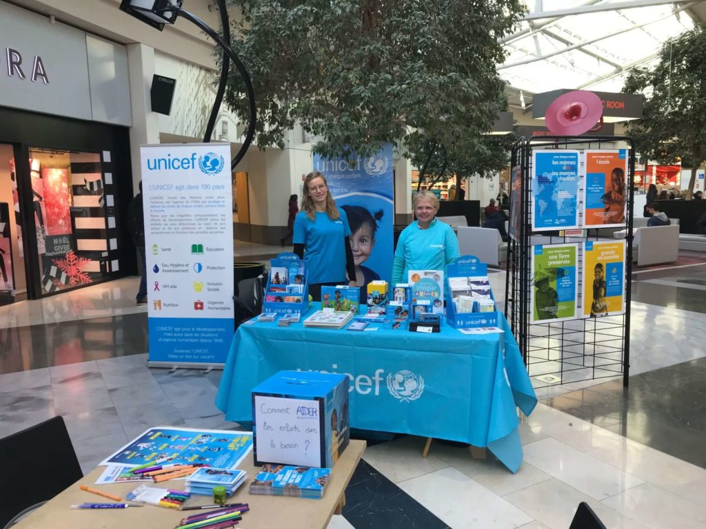 Stand UNICEF à Courier (Annecy)